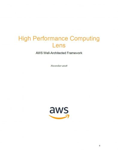 High-Performance Computing Lens: AWS Well-Architected Framework (AWS Whitepaper) by AWS Whitepapers